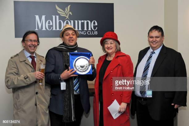 Owners of Sullivan Bay after winning Tile Importer Handicap at Caulfield Racecourse on July 01 2017 in Caulfield Australia
