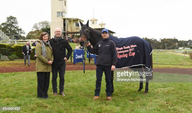 Owners of Super Mover after winning the Di Giorgio Family Wines Apsley Cup at Hamilton Racecourse on June 11 2017 in Hamilton Australia
