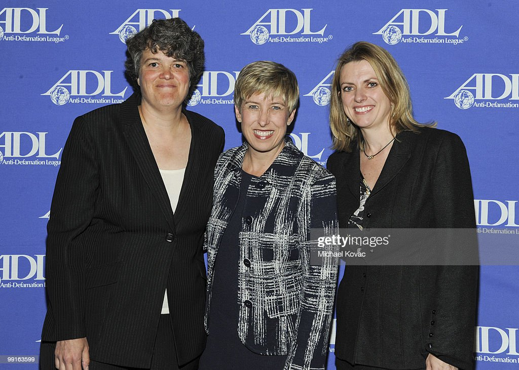 Owners of the LA Sparks Carla Christofferson and Kathy Goodman are honored by LA City Controller Wendy Greuel at the AntiDefamation League's 16th...