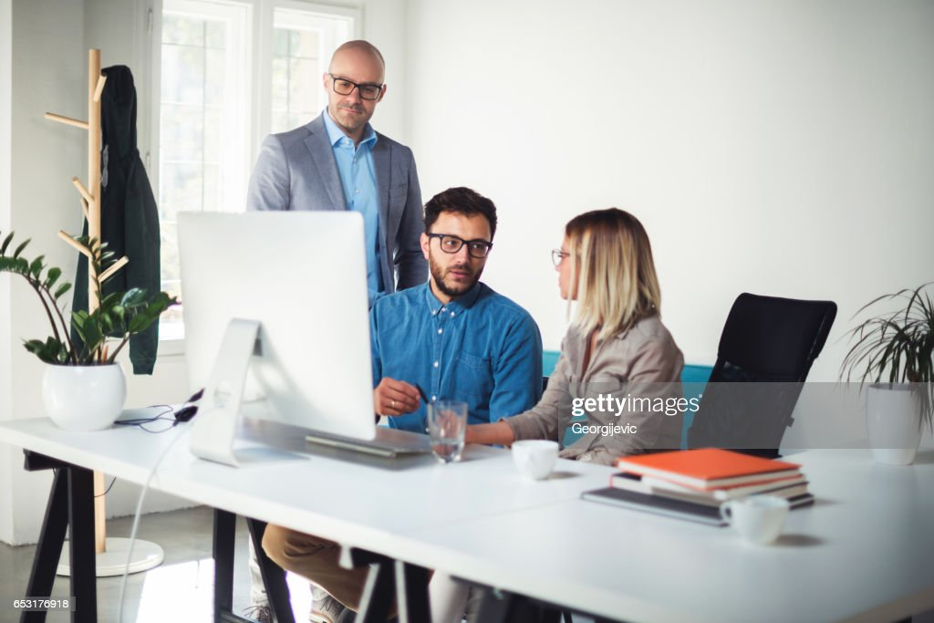 Owners of their small business : Stock Photo