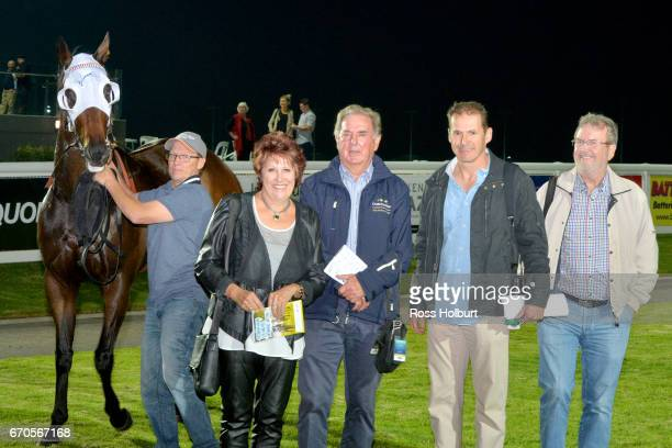 Owners of Zamboanga after winning the XXXX Gold Maiden Plate at Racingcom Park Synthetic Racecourse on April 20 2017 in Pakenham Australia