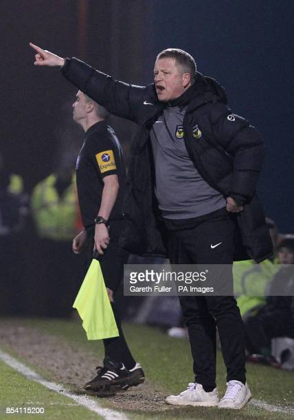 Oxford manager Chris Wilder during the npower League Two match at the Priestfield Stadium Gillingham
