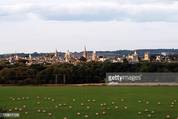 Oxford spires at dusk