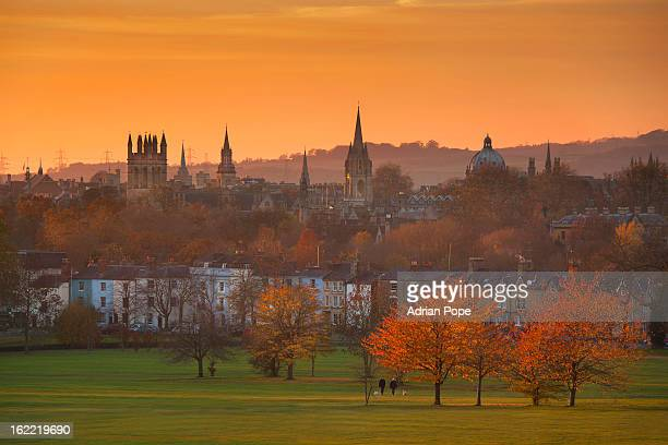 Oxford Spires in golden light