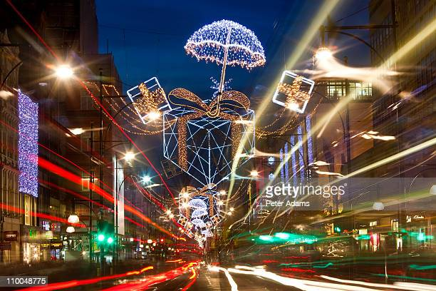 Oxford Street, Christmas Lights, London, England