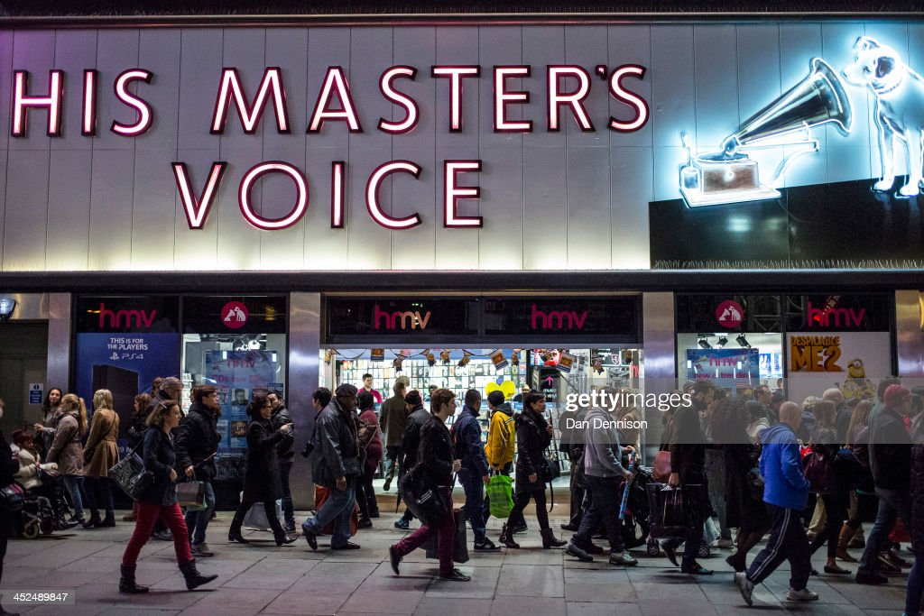 Oxford Street crowds outside high street record shop HMV on November 29, 2013 in London, United Kingdom. Though traditionally a US phenomenon, 'Black friday' sales appear to have taken hold in the UK with many retailers offering large discounts for one day only, mimicking the behaviour of their American counterparts.