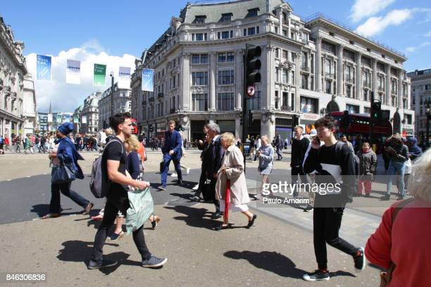 Oxford Street in London.England