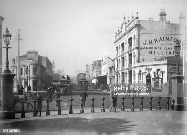 Oxford Street Sydney Australia circa 18951900 Horse drawn trams are shown