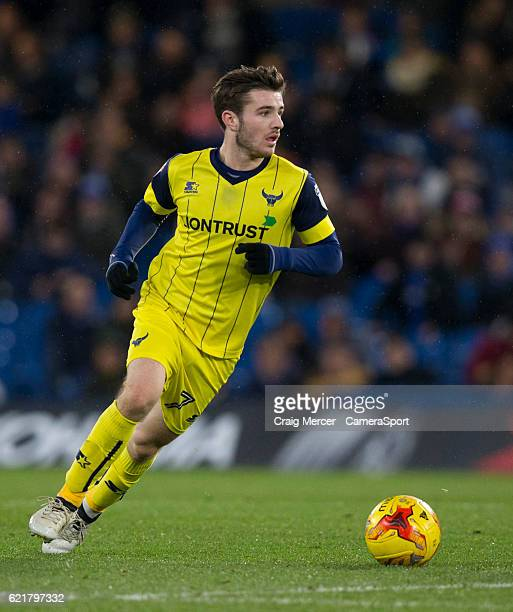 Oxford United's Dan Crowley in action during the Checkatrade Trophy Southern Group C match between Chelsea U21 and Oxford United at Stamford Bridge...