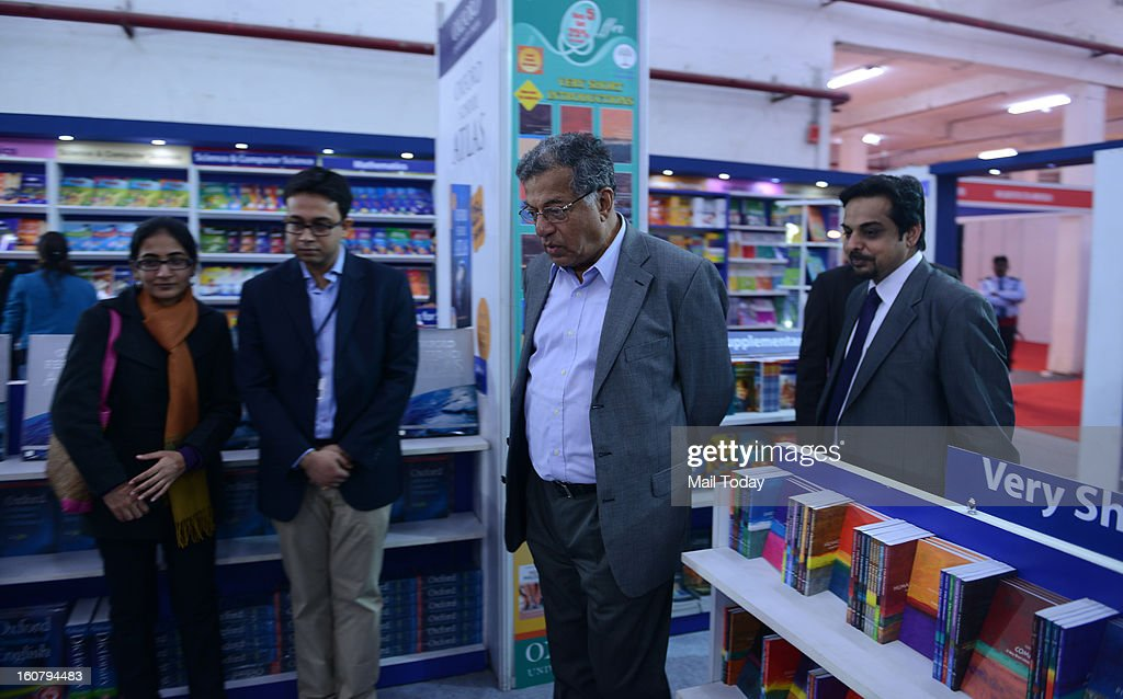 Oxford University Press stall inauguration by Girish Karnad at World Book fair in New Delhi on Monday.