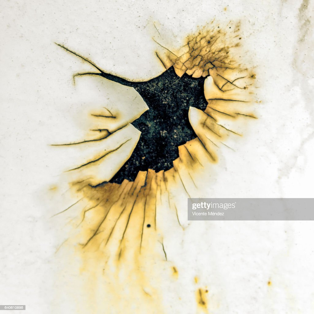 Oxide Stain (an impact) : Stock Photo