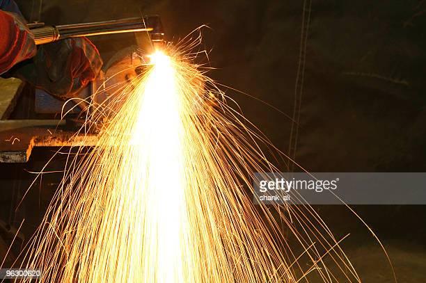L'oxygène et acetylene brûler