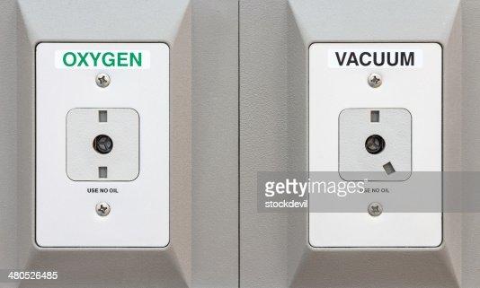 Sauerstoff und Vakuum pipelines in hospital : Stock-Foto