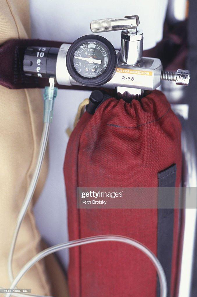 Oxygen tank, close-up : Stock Photo
