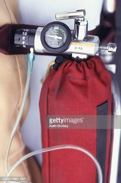 Oxygen tank, close-up