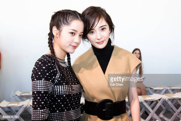 Oyang Nana Yang Mi attend the Michael Kors runway show during New York Fashion Week at Spring Studios on September 13 2017 in New York City