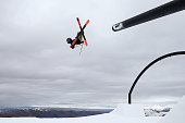 Oystein Braaten of Norway competes in the FIS Freestyle Ski Slopestyle World Cup Finals during day 11 of the Winter Games NZ at Cardrona Alpine...