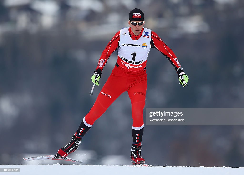 Oystein Slettemark of Denmark in action during the Men's Cross Country Individual 15km at the FIS Nordic World Ski Championships on February 27, 2013 in Val di Fiemme, Italy.