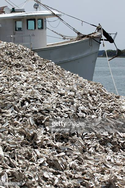 Oyster Boat and shells