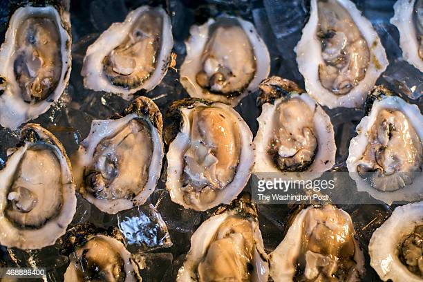 Oysters from Massachusetts are just one of the seafood choices at Leon's Oyster Shop also known for its spicy fried chicken in Charleston South...