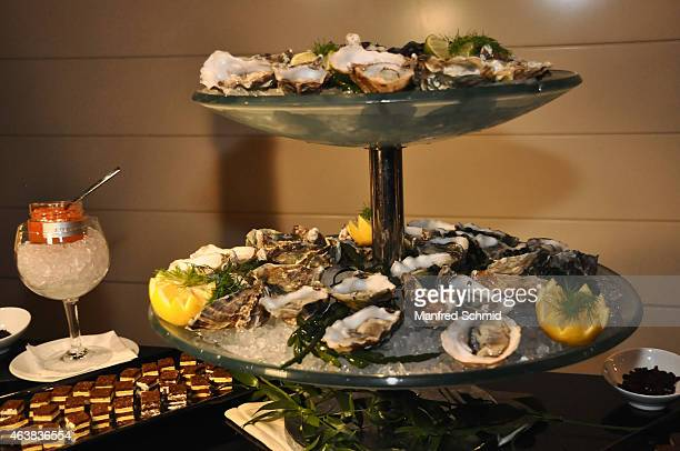 Oysters on display at the Champagne And Oyster reception ahead of the Opernball at Le Meridien Hotel on February 12 2015 in Vienna Austria