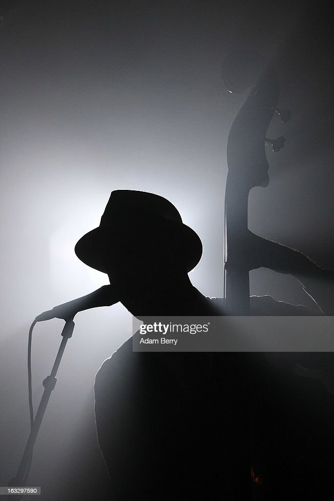 Oyvind Storesund of the Norwegian band Kaizers Orchestra performs on March 7, 2013 at Postbahnhof in Berlin, Germany.
