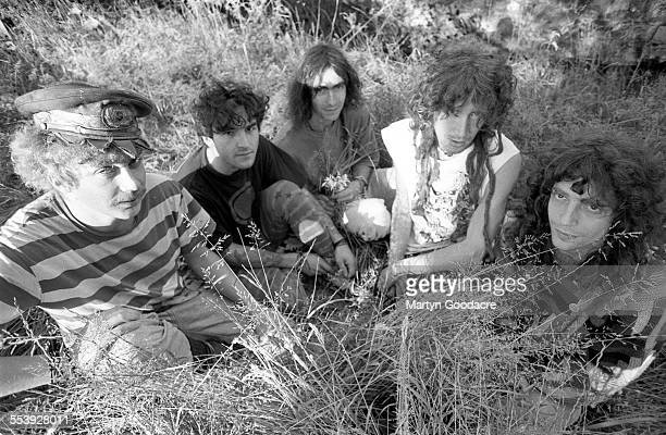 Ozric Tentacles group portrait Somerset United Kingdom 1991
