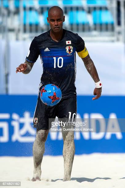 Ozu Moreira of Japan in action during the FIFA Beach Soccer World Cup Bahamas 2017 group D match between Japan and Poland at National Beach Soccer...