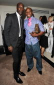 Ozwald Boateng and Chris Eubank attend launch party for Middlesbrough footballer Andrew Taylor's new website wwwplatinumplayerscouk at The Mayfair...