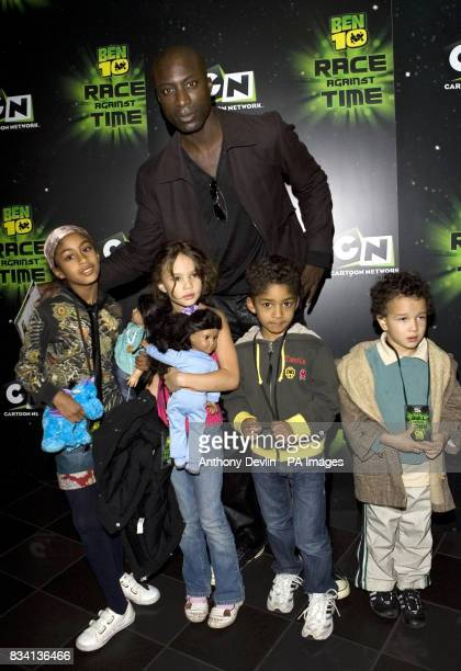 Ozwald Boateng and family arrive for the premiere of 'Ben 10 Race Against Time' at the Vue in Leicester Square London