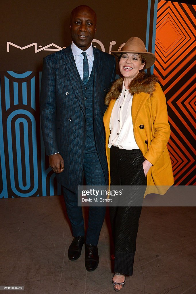 Ozwald Boateng and <a gi-track='captionPersonalityLinkClicked' href=/galleries/search?phrase=Helen+McCrory&family=editorial&specificpeople=214616 ng-click='$event.stopPropagation()'>Helen McCrory</a> attend the MAC Pro to Pro Textile Party at London's Camden Roundhouse on April 29, 2016 in London, England.