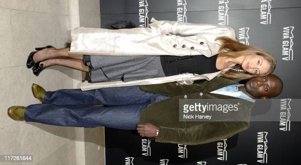 Ozwald Boateng and Wife during MAC Cocktail Party Inside 18 September 2005 at The Hospital in London Great Britain
