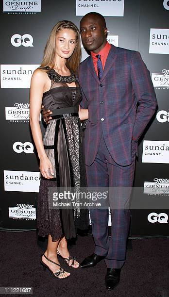 Ozwald Boateng and wife Guynel Boateng during Sundance Channel GQ Magazine and Miller Genuine Draft Presents 'House of Boateng' Arrivals at Museum of...