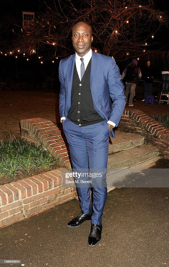 Ozwald Boateng arrives at the Zeitz Foundation and ZSL Gala at London Zoo on November 22, 2012 in London, England.