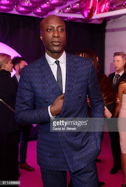 Ozwald Boateng at The Naked Heart Foundation's Fabulous Fund Fair in London at Old Billingsgate Market on February 20 2016 in London England