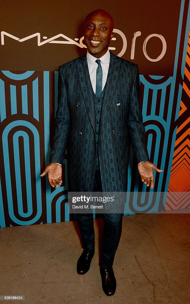 Ozwald Boateng attends the MAC Pro to Pro Textile Party at London's Camden Roundhouse on April 29, 2016 in London, England.