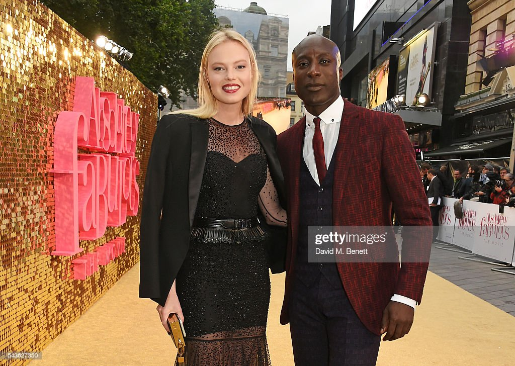 Ozwald Boateng (R) attends the World Premiere of 'Absolutely Fabulous: The Movie' at Odeon Leicester Square on June 29, 2016 in London, England.