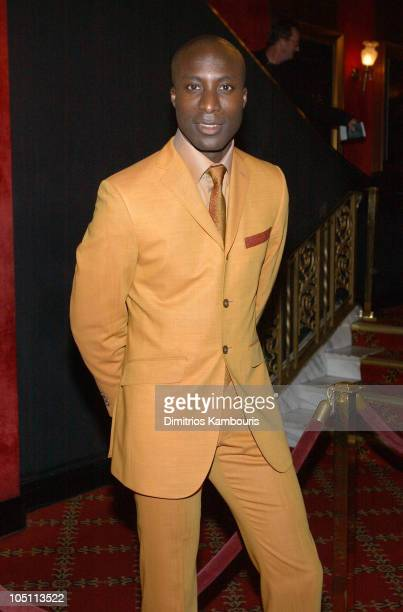 Ozwald Boateng during 'Matrix Reloaded' New York Premiere Inside Arrivals at Ziegfeld Theater in New York City New York United States