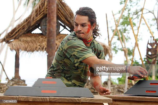 Ozzy Lusth during the reward Challenge 'Thrilloilogy' during the series premier of SURVIVOR SOUTH PACIFIC Wednesday September 14 on the CBS...