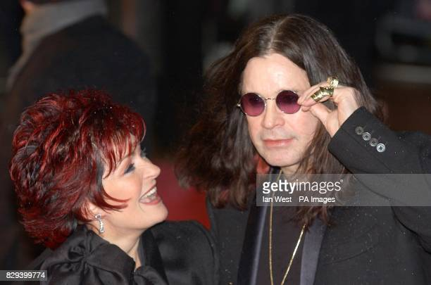 Ozzy Osbourne and his wife Sharon arrive for the UK charity premiere of Bridget Jones The Edge Of Reason in aid of Marie Curie Cancer Care at the...