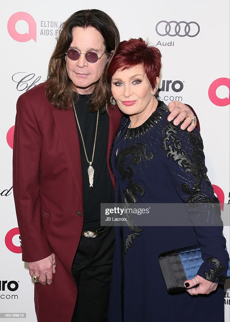 Ozzy Osbourne and Osbourne attend the 23rd Annual Elton John AIDS Foundation Academy Awards Viewing Party on February 22, 2015 in West Hollywood, California.
