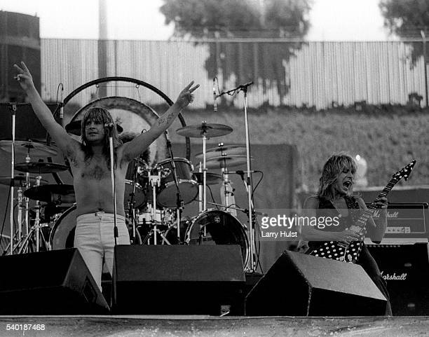 Ozzy Osbourne and Randy Rhoads are performing at a 'Day on the Green' at the Oakland Coliseum in Oakland CA on July 4 1981