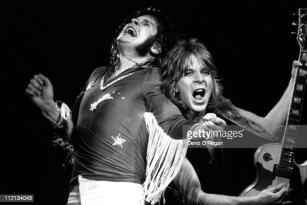 Ozzy Osbourne and Randy Rhoads live in the UK 1980