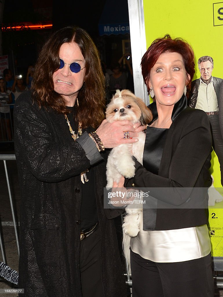 Ozzy Osbourne and Sharon Osbourne arrive at the premiere of CBS Films' 'Seven Psychopaths' at Mann Bruin Theatre on October 1, 2012 in Westwood, California.