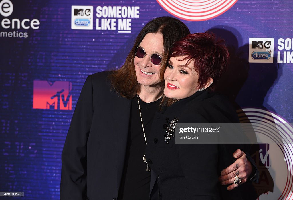 Ozzy Osbourne and Sharon Osbourne attend the MTV EMA's 2014 at The Hydro on November 9, 2014 in Glasgow, Scotland.