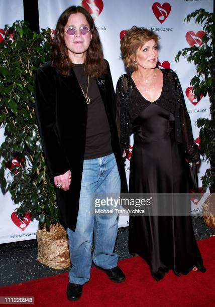 Ozzy Osbourne and Sharon Osbourne during 2nd Annual MusiCares MAP Fund Benefit Concert Honoring James Hetfield and Bill Silva at Henry Fonda Music...