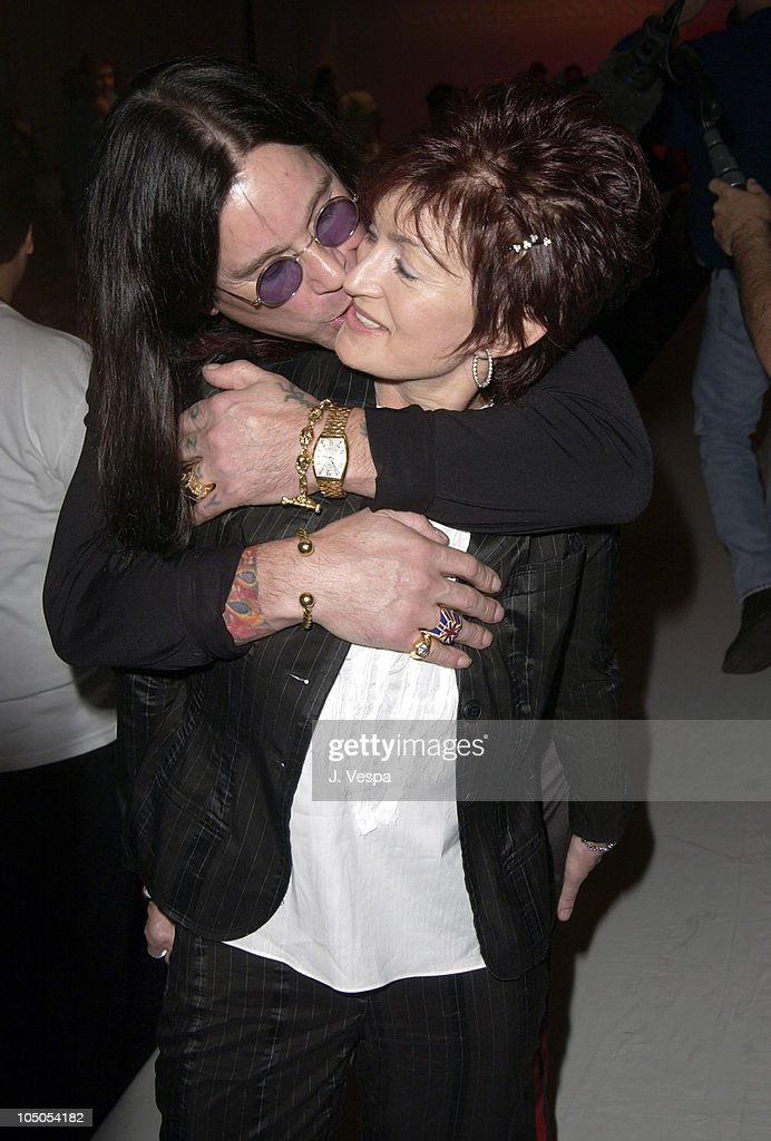 Ozzy Osbourne and Sharon Osbourne during Mercedes-Benz Shows LA - Joey and T - Front Row and Backstage at The Standard Downtown LA in Los Angeles, California, United States.