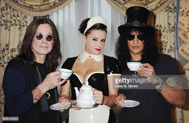 Ozzy Osbourne and Slash attend The Classic Rock Awards' Tea Party on November 3 2008 in London England Slash will present Ozzy with a living legend...