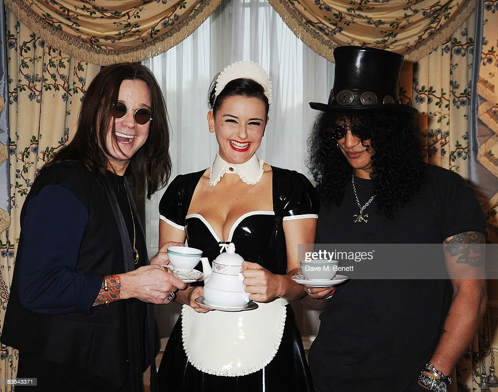 Ozzy Osbourne and Slash attend The Classic Rock Awards' Tea Party on November 3, 2008 in London, England. Slash will present Ozzy with a living legend award at the Classic Rock and Roll Honour Awards to be held on November 3.