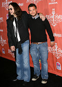 Ozzy Osbourne and son Jack Osbourne arrive at the 2007 Spike TV Scream Awards at The Greek Theater on October 19 2007 in Los Angeles California